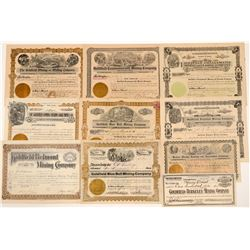 Ten Different Goldfield Mining Stock Certificates   (107086)