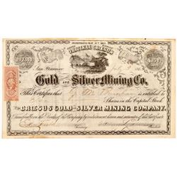 Croesus Gold & Silver Mining Company Stock Certificate   (107050)