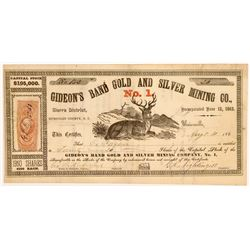 Gideon's Band Gold & Silver Mining Co. No. 1 Stock Certificate   (107051)
