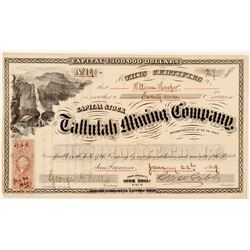 Tallulah Mining Company Stock Certificate   (107067)