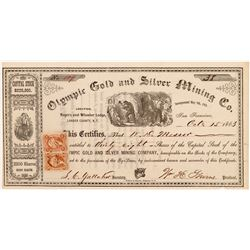 Olympic Gold & Silver Mining Company Stock Certificate   (107052)