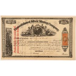 Consolidated Silver Mining Company Stock Certificate   (107320)