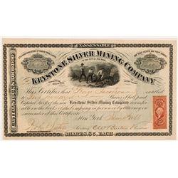 Keystone Silver Mining Company Stock Certificate   (104370)