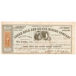 Leeke Gold & Silver Mining Company Stock Certificate   (107054)