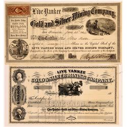 Live Yankee Gold & Silver Mining Co. Stock Certificate   (107061)