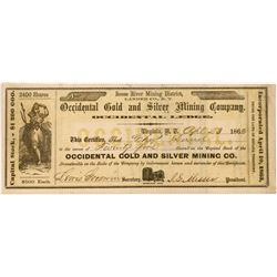 Occidental Gold & Silver Mining Co. Stock Certificate   (107037)