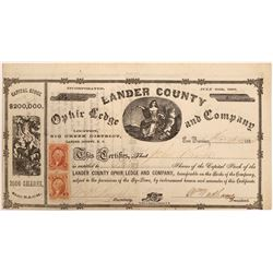 Lander County Ophir Ledge and Company Stock   (103580)