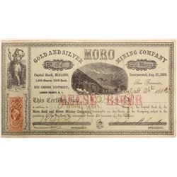 Moro Gold and Silver Mining Company Stock   (103581)