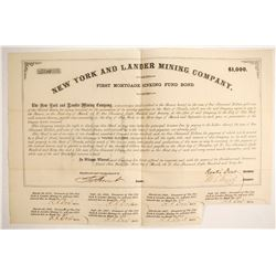 New York and Lander Mining Company Bond   (88113)