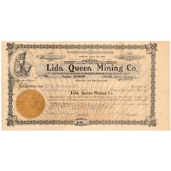 Lida Queen Mining Company Stock Certificate   (107143)