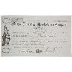 Washoe Mining & Manufacturing Company Stock   (79252)