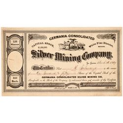 Germania Cons. Silver Mining Co. Stock Certificate   (107010)