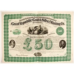 Great Republic Gold & Silver Mining Company Bond   (79244)