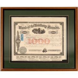 Nevada Territory Bond signed by Nye   (106471)