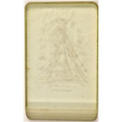 Vintage Etched Glass Mining Art   (106489)
