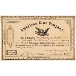 American Zinc Co Stock   (108108)