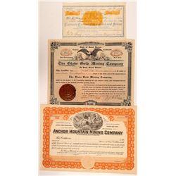 South Dakota Mining Stock Certs. (3)   (108152)