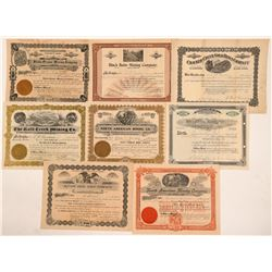 Eight Oregon Mining Stock Certificates   (104481)