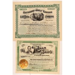 Keystone South Dakota Stock Certs. (2)   (106029)