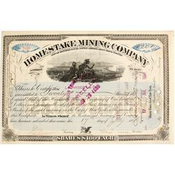 Homestake Mining Company Stock Certificate, Signed by Lloyd Tevis   (79069)