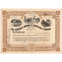 Certigue Mining & Dredging Stock   (108092)
