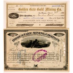 Whitewood District South Dakota Stock Certs. 2   (108153)