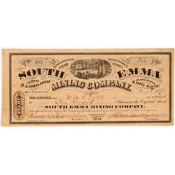 South Emma Mining Company Stock Certificate   (107198)