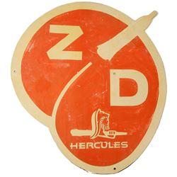 Zero Death-Hercules Powder Tin Sign   (84831)