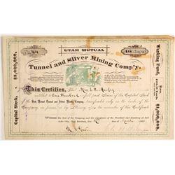 Utah Mutual Tunnel and Silver Mining Company Stock   (88137)