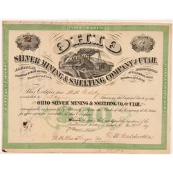 Ohio Silver Mining and Smelting Company of Utah Stock Certificate   (108042)