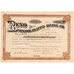 Reno Consolidated Mining Co. Stock Certificate   (107212)