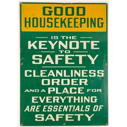 Mammoth Mine GOOD HOUSEKEEPING Sign   (108240)