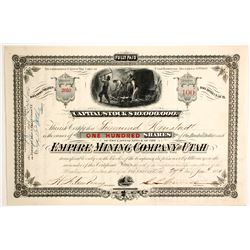 Empire Mining Company of Utah Stock   (88134)