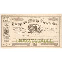 Evergreen Mining Association Stock Certificate   (107208)