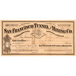 San Francisco Tunnel & Mining Co. Stock Certificate   (107205)