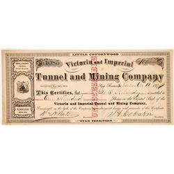 Victoria & Imperial Tunnel & Mining Co. Stock Certificate   (107209)
