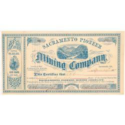 Sacramento Pioneer Mining Company Stock Certificate   (107199)