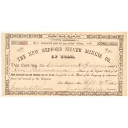 New Bedford Silver Mining Co. of Utah Stock Certificate   (107196)