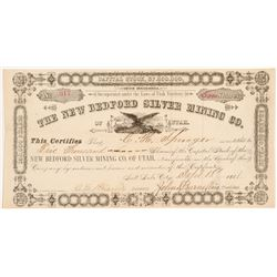 New Bedford Silver Mining Co. of Utah Stock Certificate   (107195)