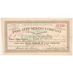 Park City Mining Company Stock Certificate   (107194)