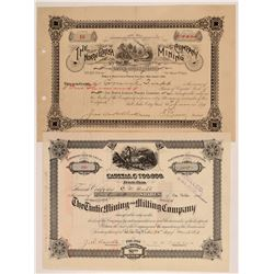 Two Different Tintic Mining District Stock Certificates   (107214)