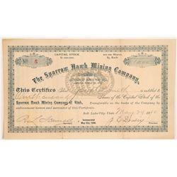 Sparrow Hawk Mining Company Stock w/ Morgan Dollar Vignette   (107197)
