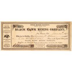 Black Hawk Mining Company Stock Certificate   (107207)