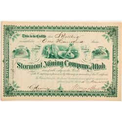 Stormont Mining Co. Stock Certificate w/ US Coin Vignette   (107202)