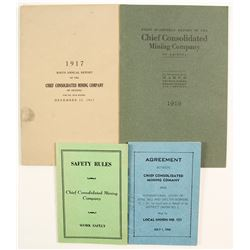 Chief Con. Mining Co. Booklets (7)   (86456)