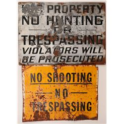 Two Big, Utah Mine NO TRESPASSING Signs   (108243)
