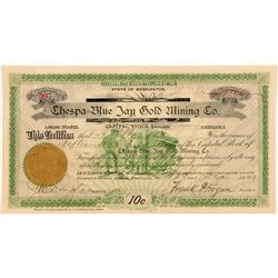 Chespa-Blue Jay Gold Mining Co. Stock Certificate   (107099)