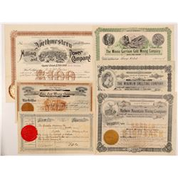 Six Different Washington Mining Stock Certificates   (104387)