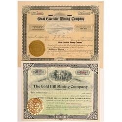 Two Alaska-area Washington Mining Stock Certificates   (107082)