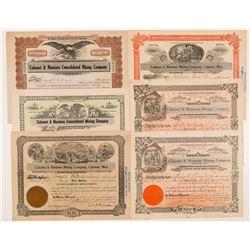 Calumet & Montana Cons. Mining Co. Stock Certificates   (104263)